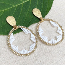 Starburst white earrings