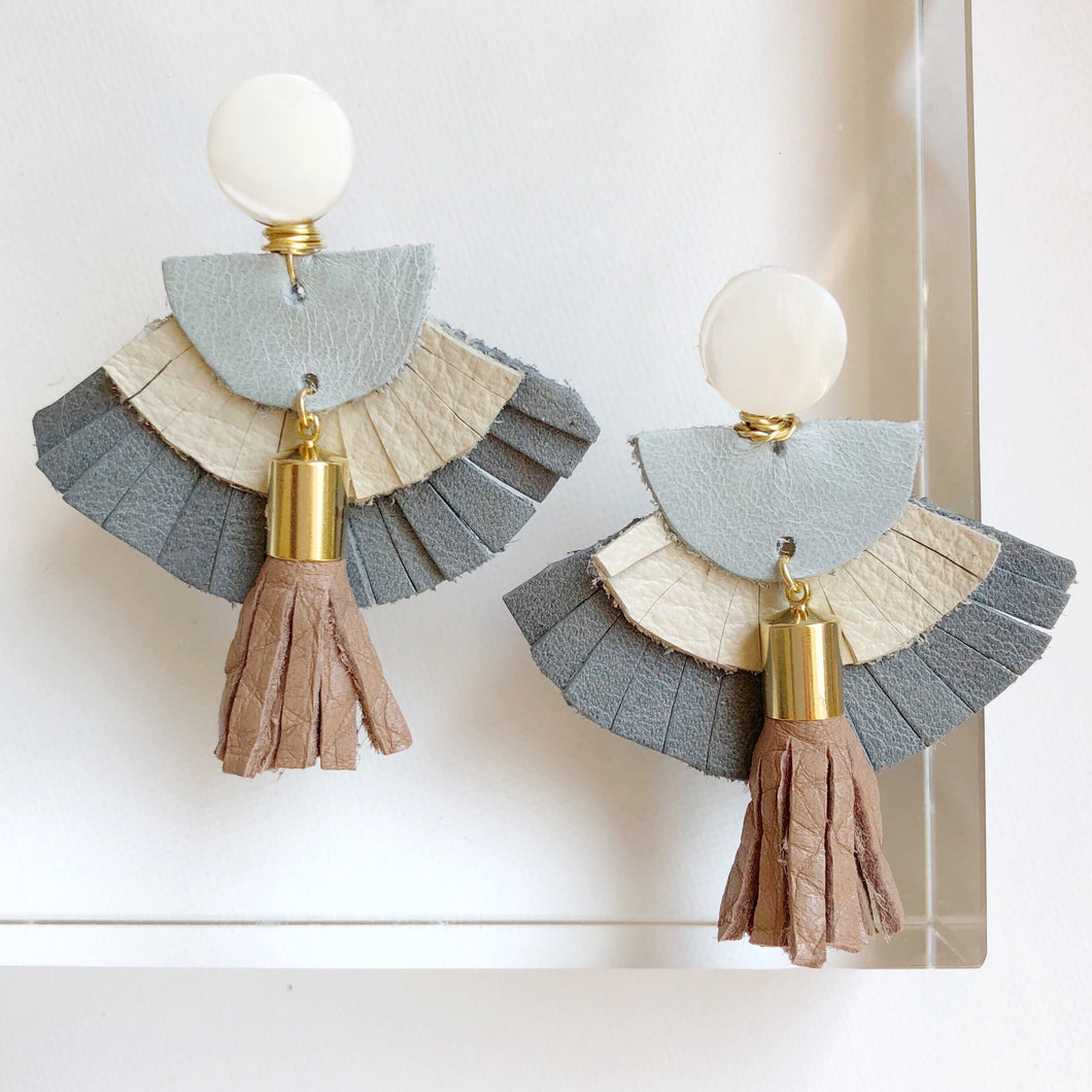 Celine Leather Earrings