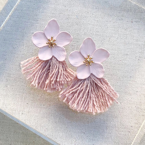 Blush Floral Earring