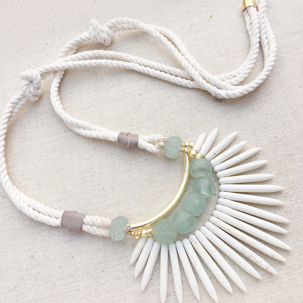 Boho Nautical Mint Necklace