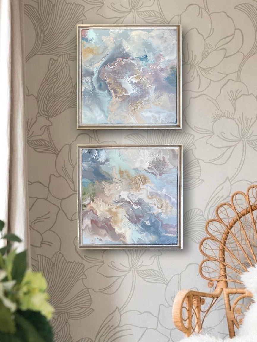Custom Framed Abstract Paintings