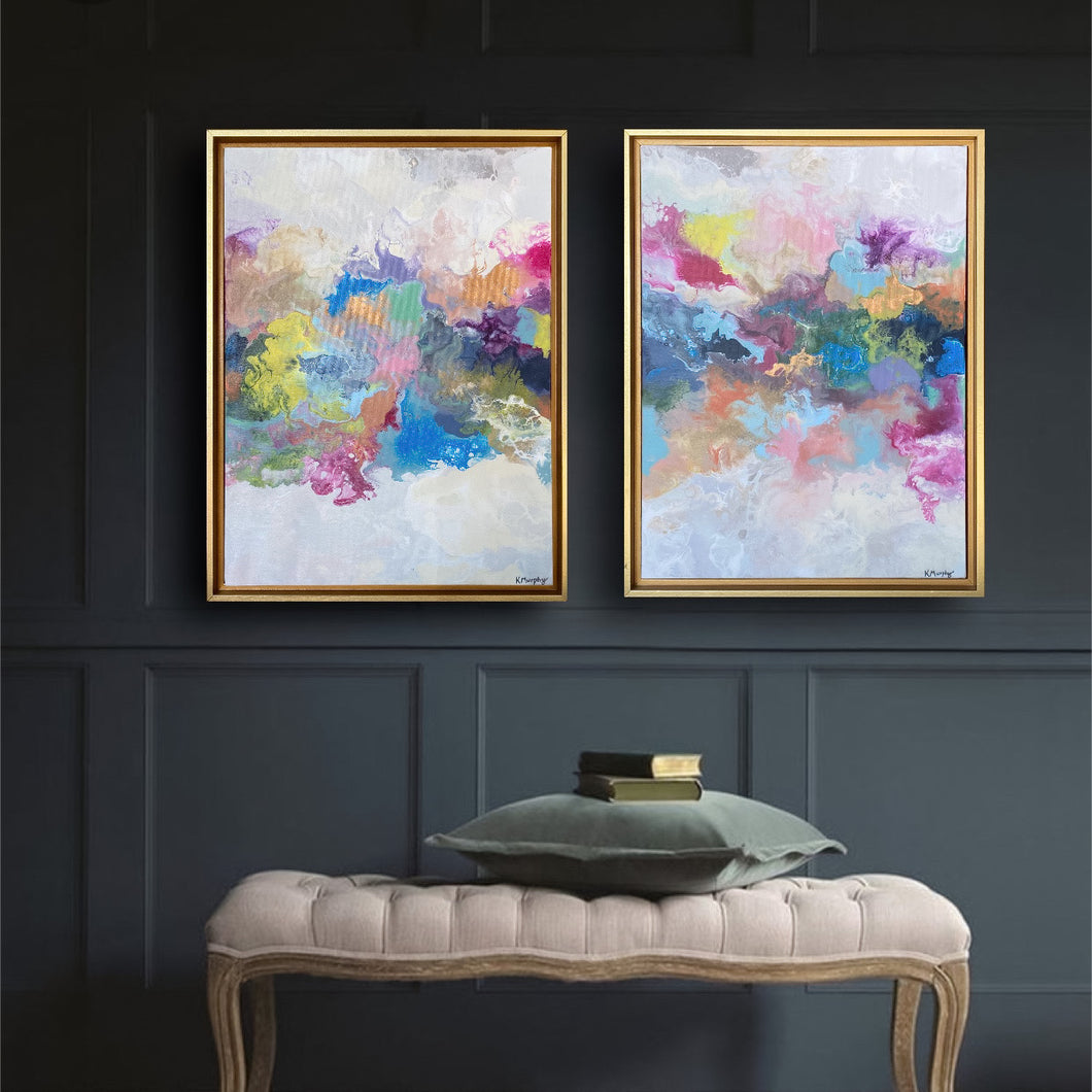 Happiness I & II Original Fine Art Paintings