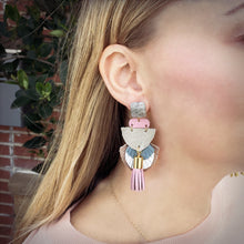 Amelia Fringe Leather Earrings