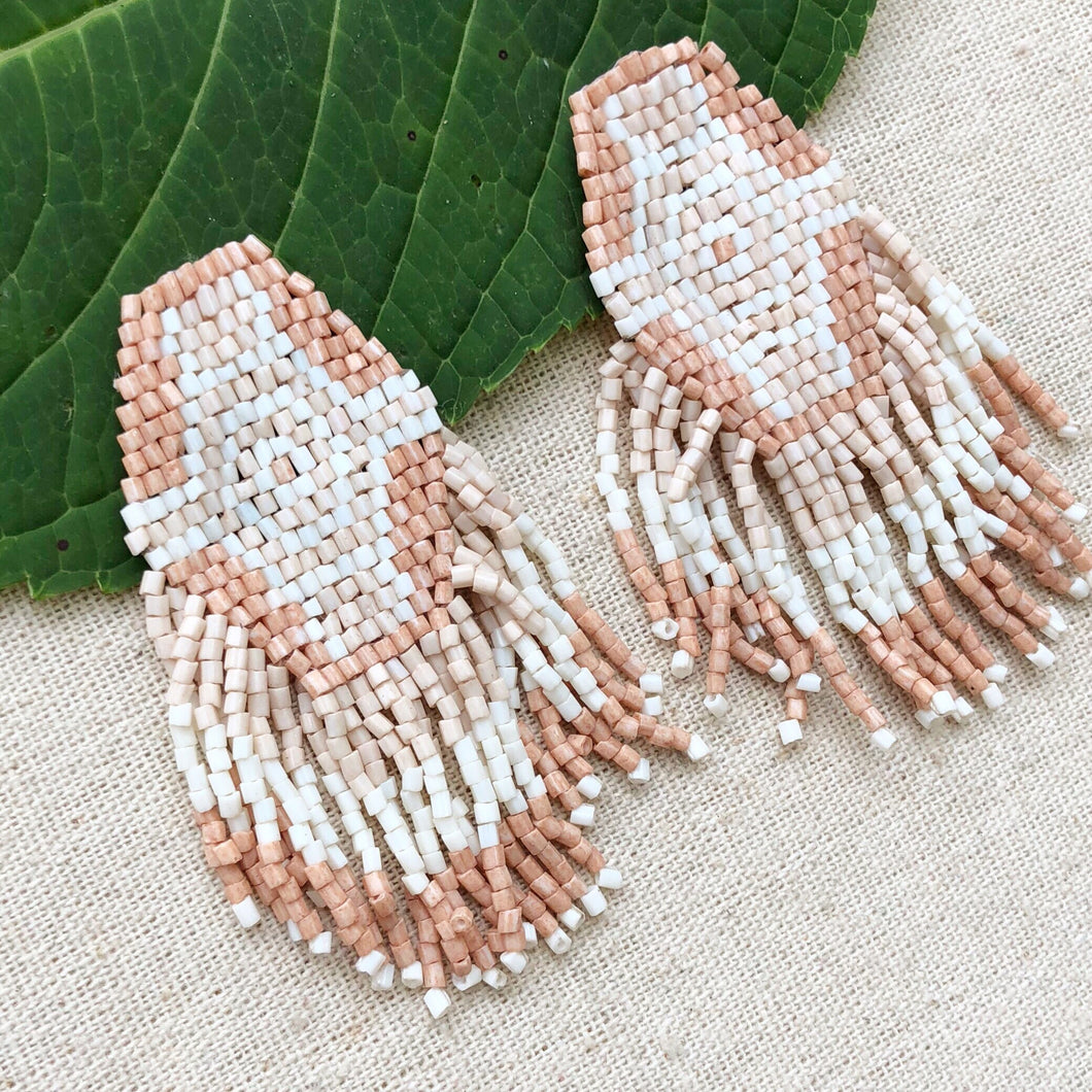 Maya coral Earrings