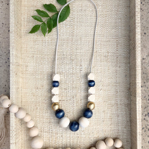 Back in School Navy Necklace