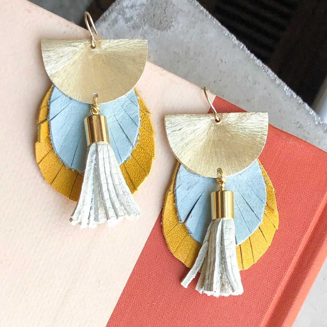 Sunshine Leather Earring