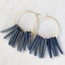 Tribal hoop pastel earring