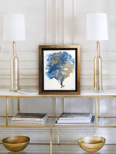 Navy Sea Fan Coral Abstract painting