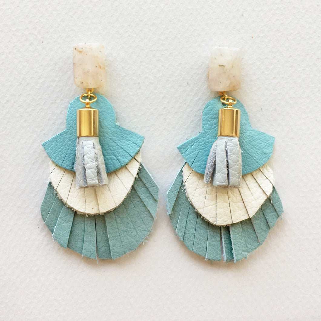Sky Fringe Earrings