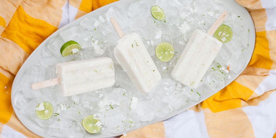 Lime in the Coconut Popsicles