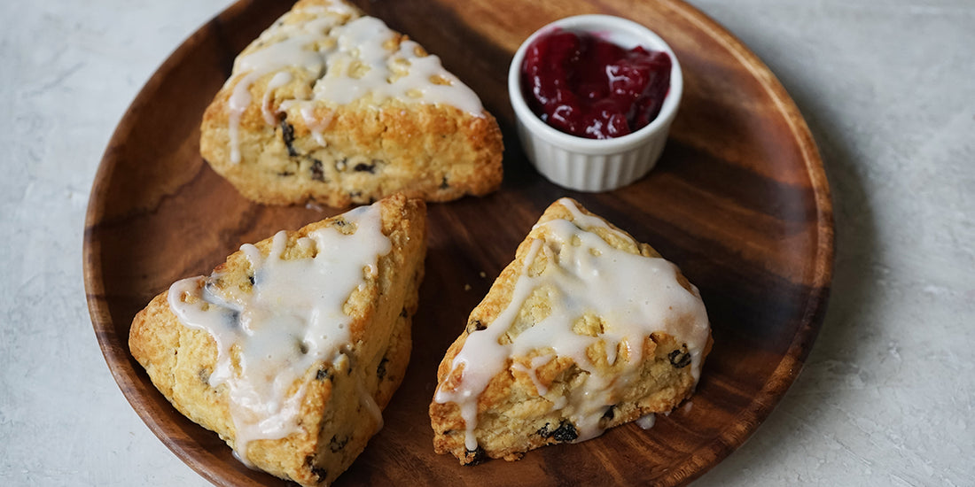 Currant Meyer Lemon Scones