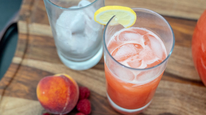 Sugar-Free Peach Raspberry Lemonade