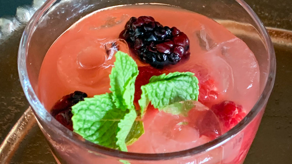Berry Pomegranate Vodka Spritzer