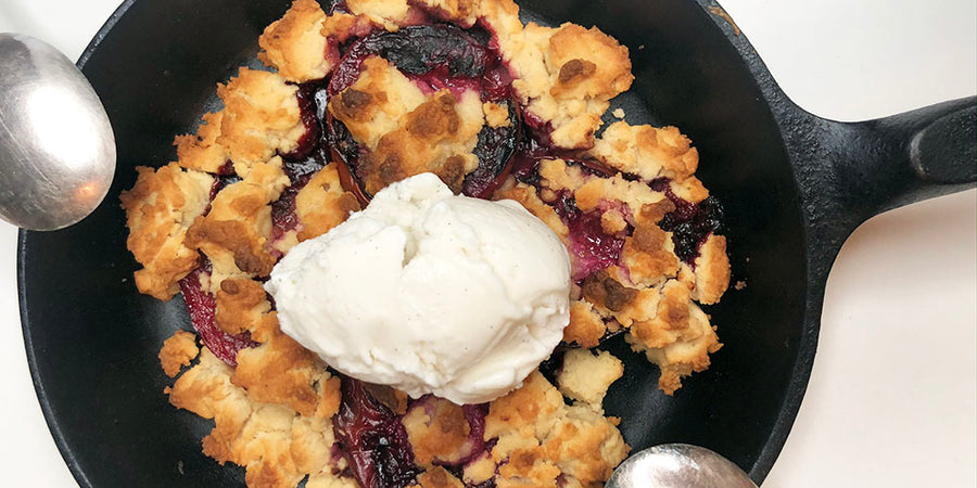 Grilled Stone Fruit Cobbler