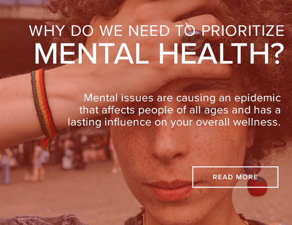 Mental health issues are causing an epidemic, affecting all ages and overall wellness.