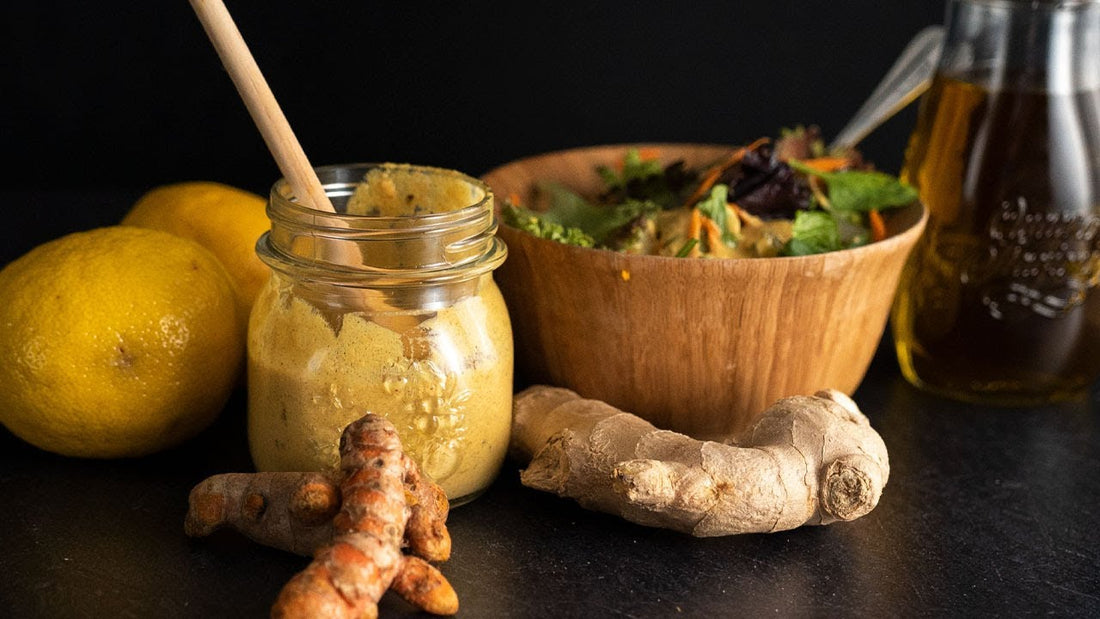 turmeric and almond keto dressing from Lakanto