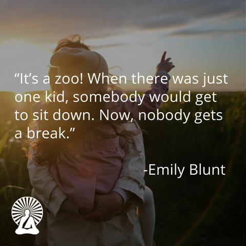 Emily Blunt funny motherhood quote