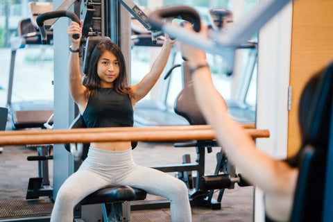 female in gym
