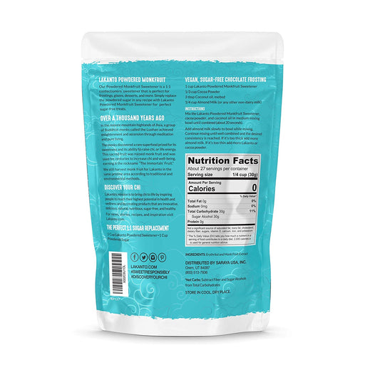 Powdered 1:1 Monk Fruit Sweetener, Sugar Substitute