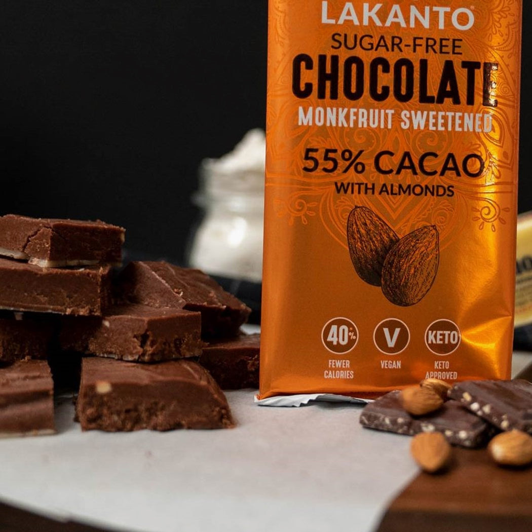 Sugar-Free Chocolate Bars with 55% Cacao