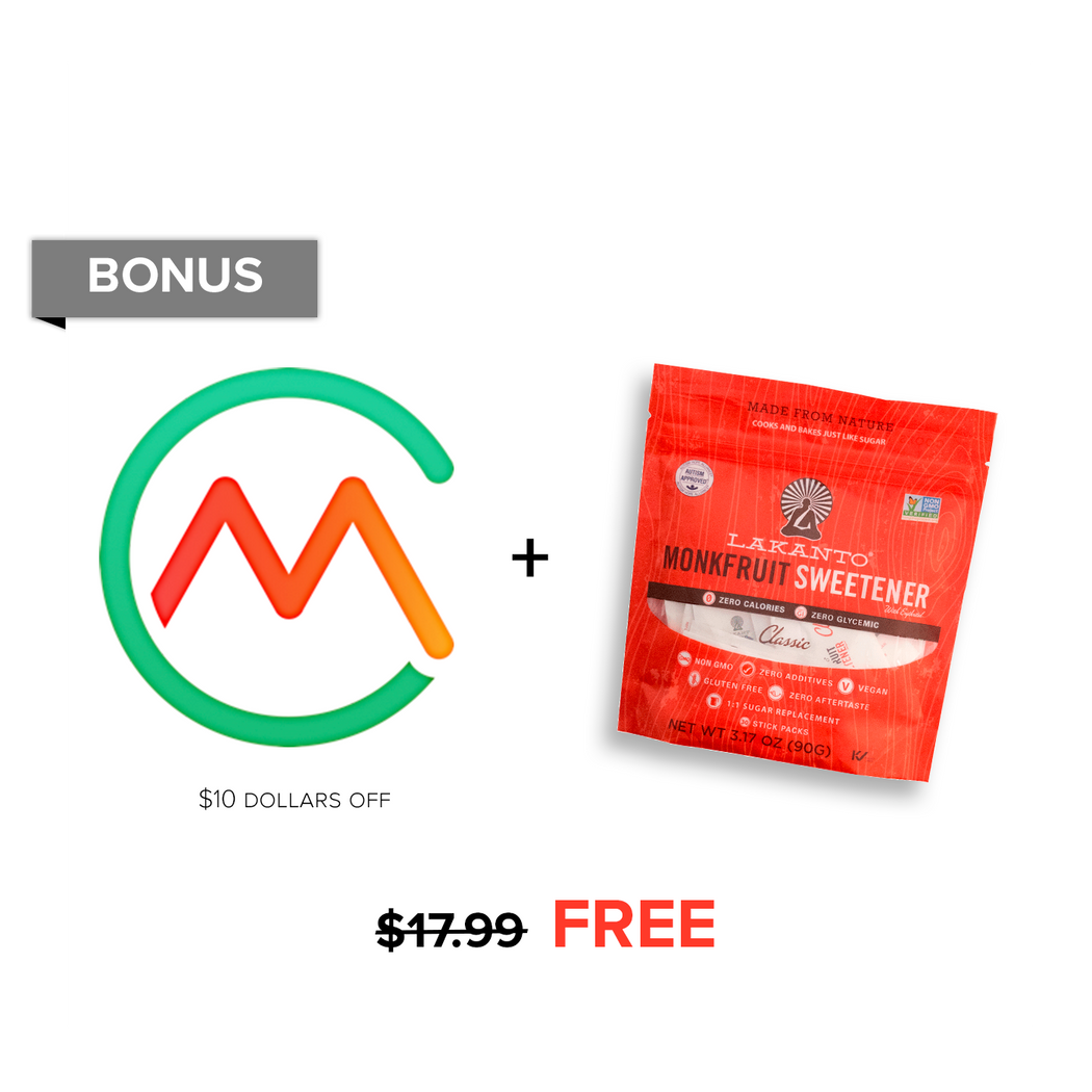$17.99 Bonus: $10 off Carb Manager Premium & Classic Sweetener Packets $7.99!