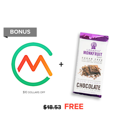 $18.53 Bonus: $10 off Carb Manager Premium & Cacao Nibs Chocolate Bar $8.53!