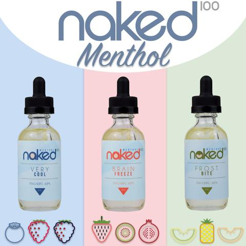 NAKED ELIQUID MENTOL VERY COOL BRAIN BREEZE FROST BITE
