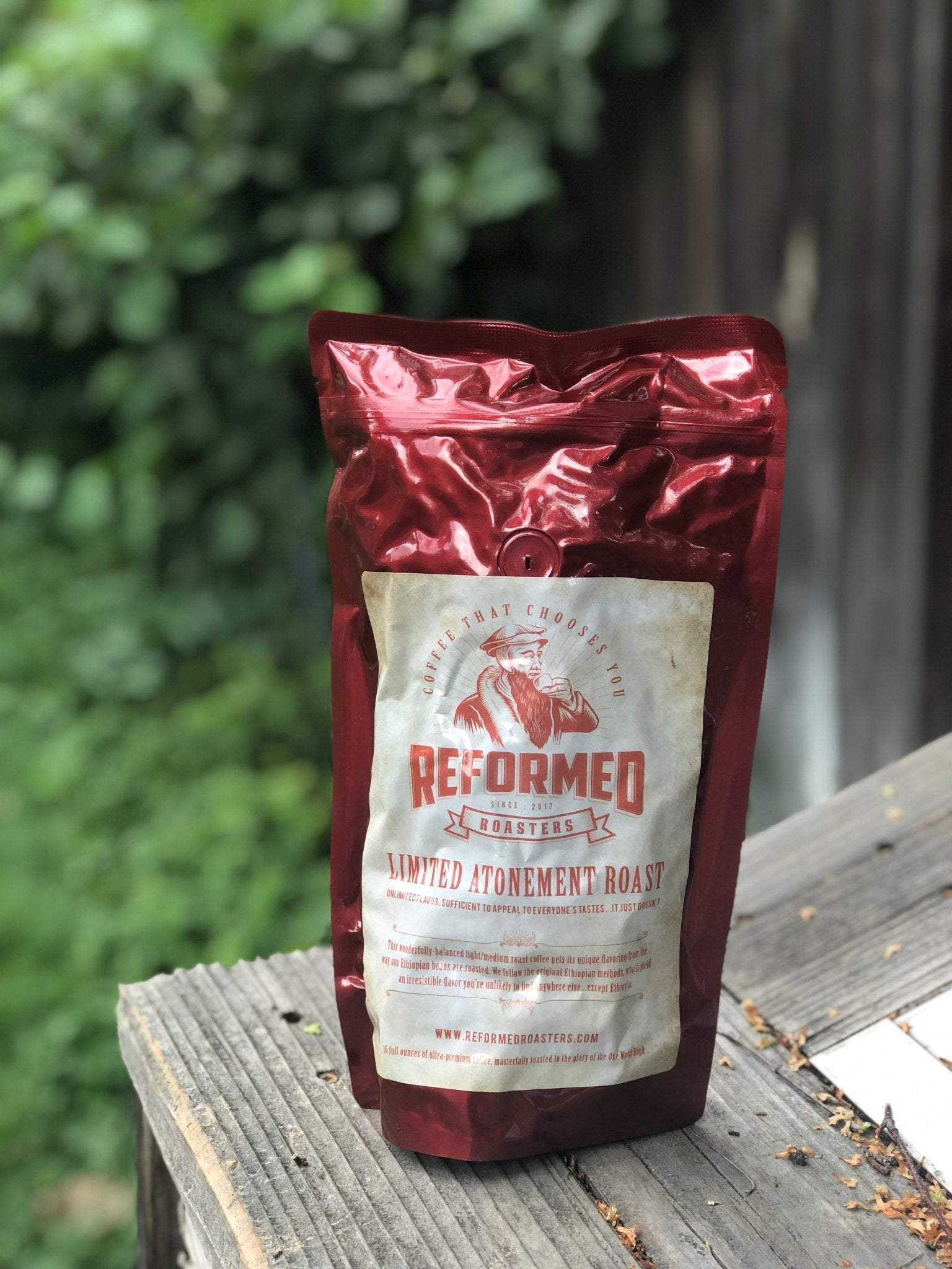coffee christian coffee reformed coffee Limited Atonement Roast (1lb - Whole Bean) Coffee  - Reformed Roasters