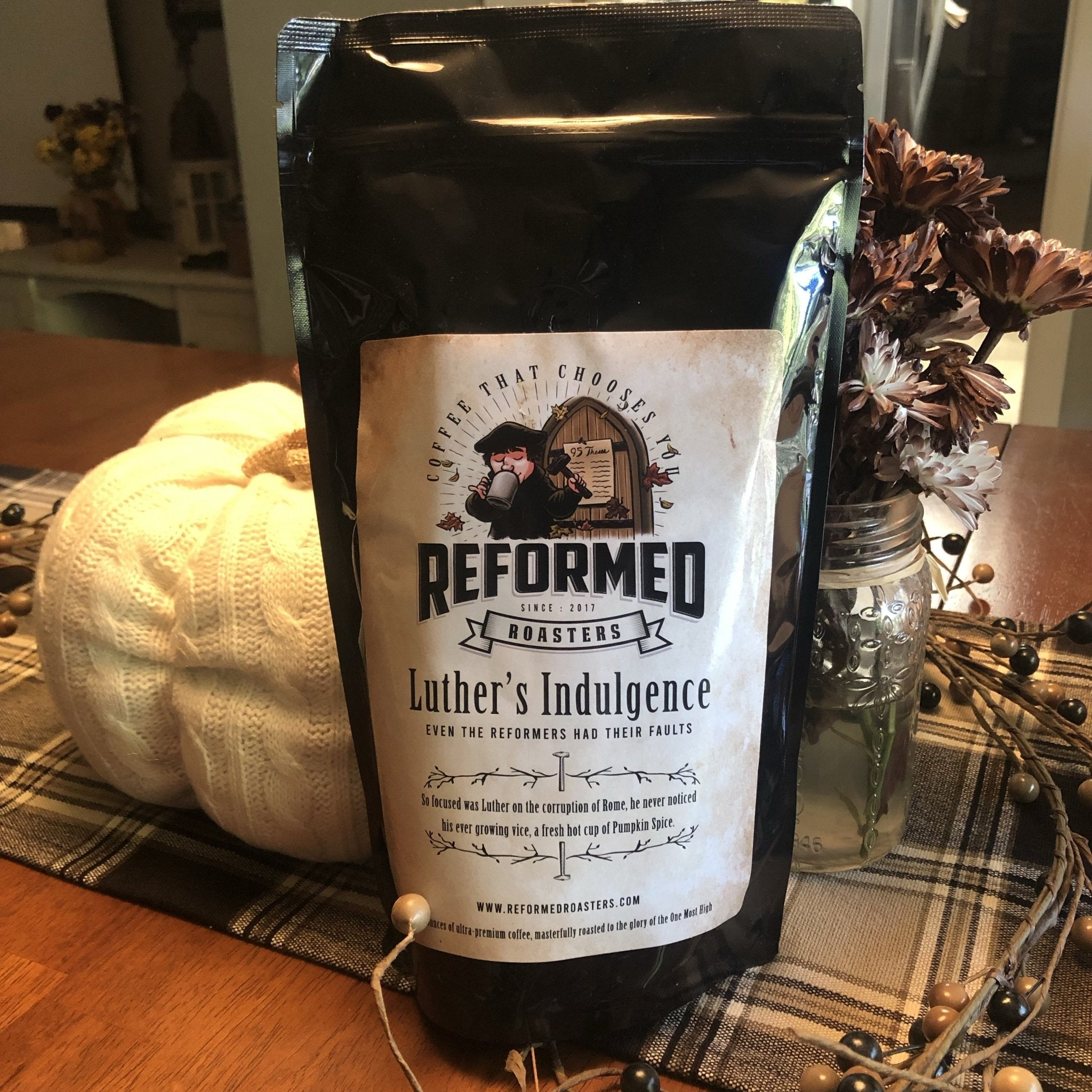 Luther's Indulgence (1lb - Ground) - Reformed Roasters - #reformed# - #christian_coffee# - #coffee#