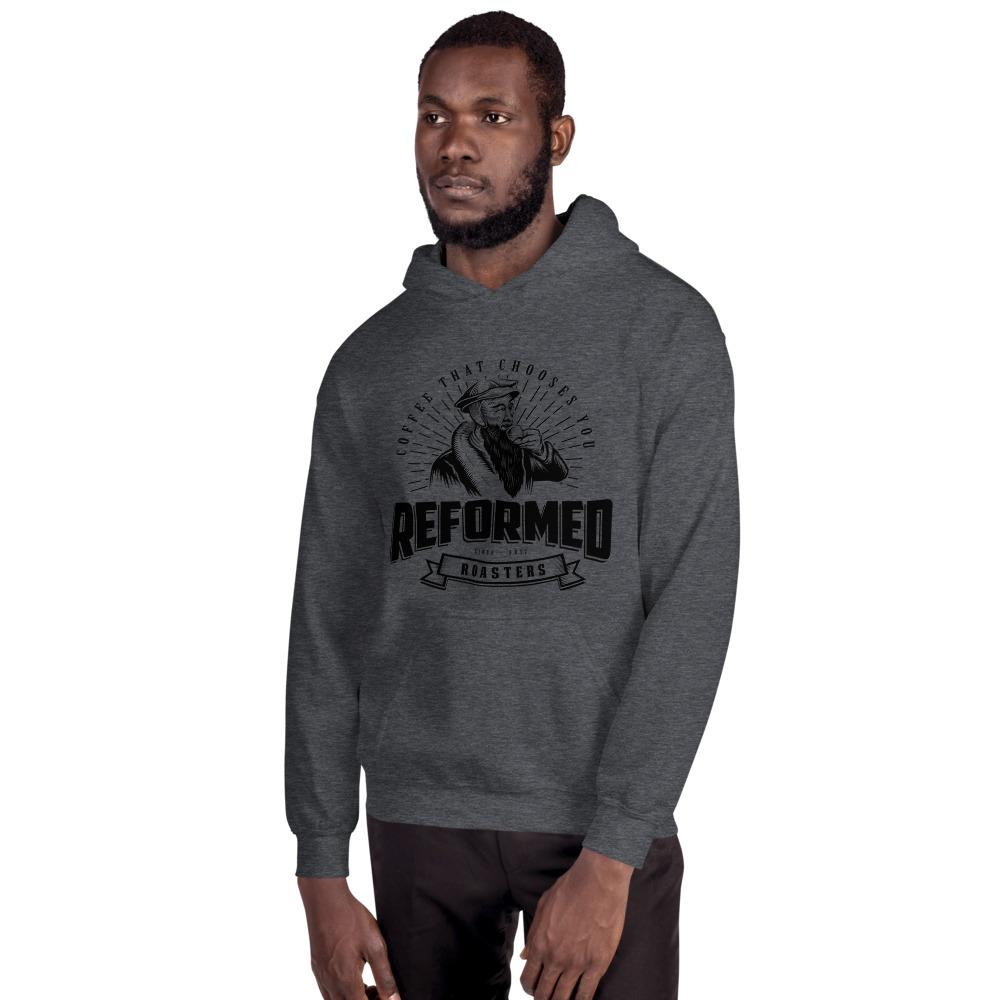coffee christian coffee reformed coffee Reformed Roasters Logo Hoodie hoodie Dark Heather / S - Reformed Roasters