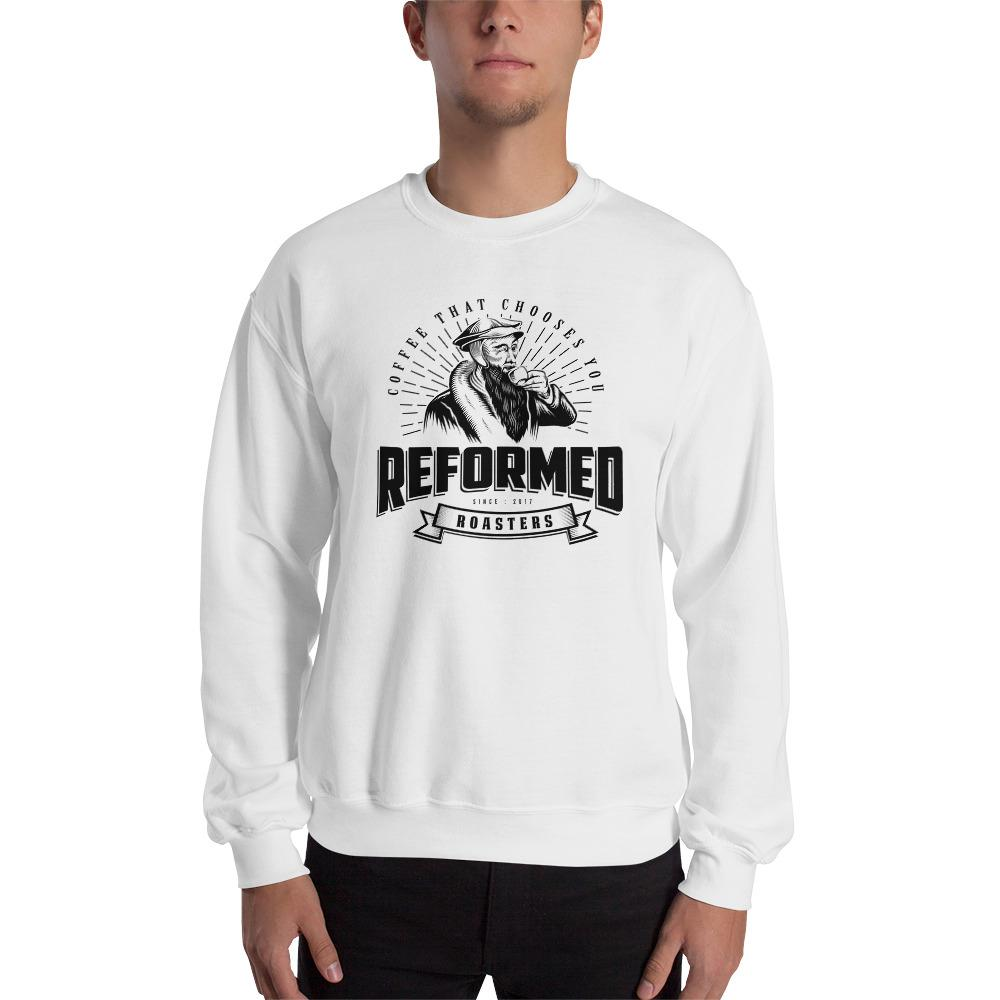 coffee christian coffee reformed coffee Reformed Roasters Logo Sweatshirt sweater White / S - Reformed Roasters