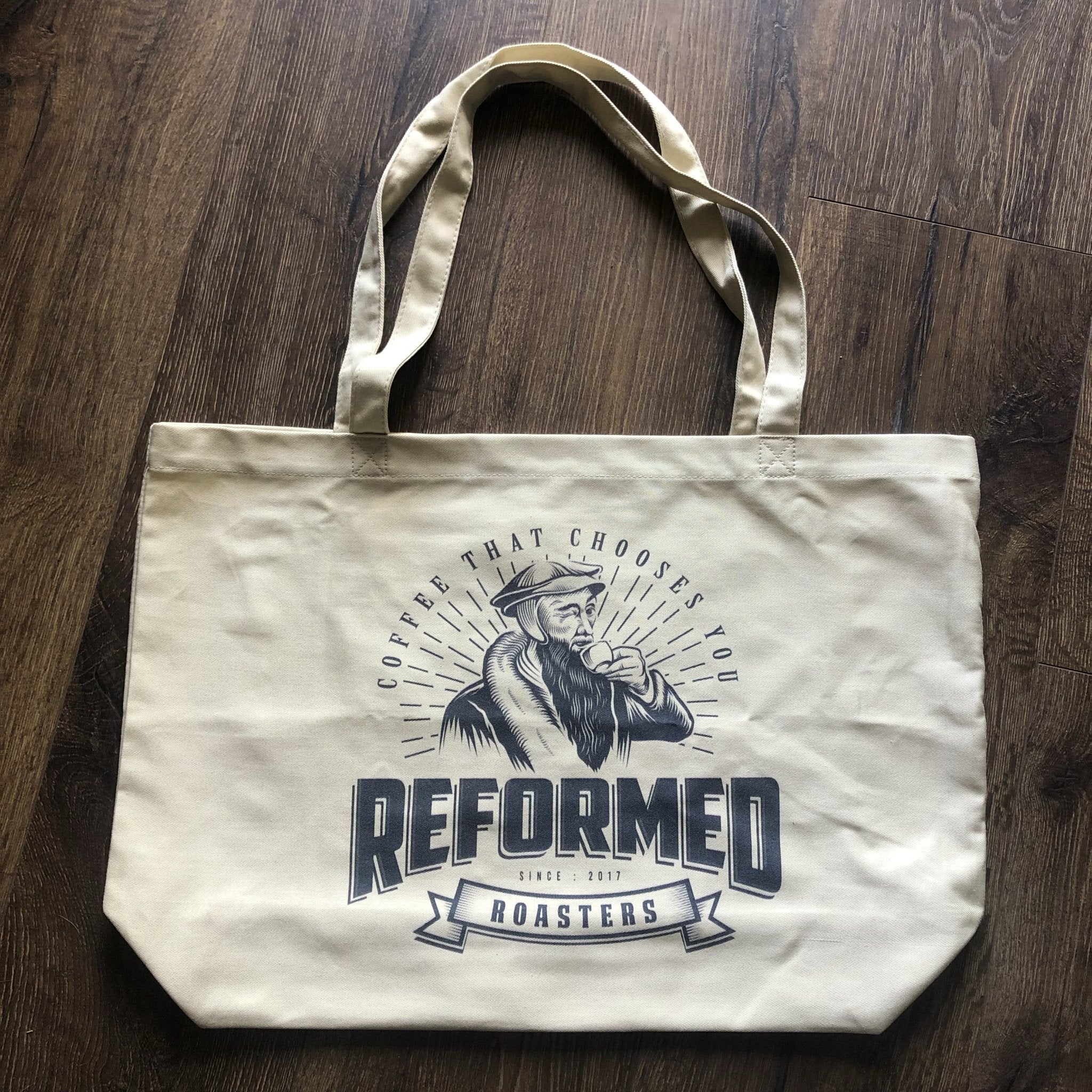 coffee christian coffee reformed coffee Reformed Roasters Logo Tote tote  - Reformed Roasters