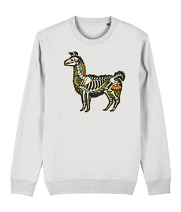 Alpaca Skeleton Sweatshirt | Sustainable Fashion - IndianBelieves
