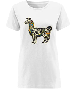 Alpaca Skeleton T-shirt | Sustainable Fashion - IndianBelieves