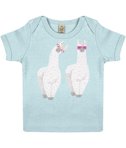 Baby T-shirt | Two Lamas | Sustainable Fashion - IndianBelieves
