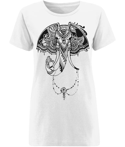 Bohemian Elephant T-shirt | Sustainable Fashion - IndianBelieves