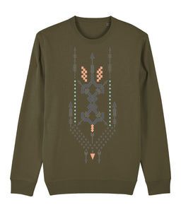Boho Totem III Sweatshirt Clothing IndianBelieves British Khaki X-Small