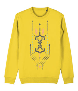 Boho Totem III Sweatshirt Clothing IndianBelieves Golden Yellow X-Small
