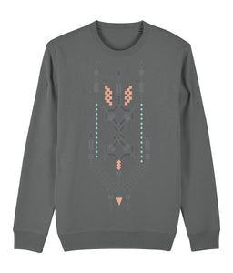 Boho Totem III Sweatshirt Clothing IndianBelieves Heather Grey X-Small