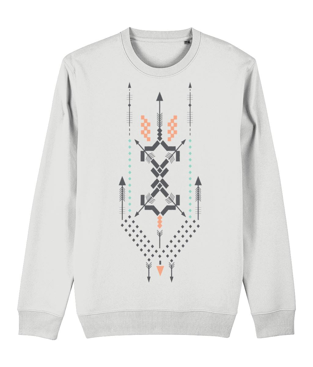 Boho Totem III Sweatshirt Clothing IndianBelieves White X-Small