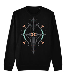 Boho Totem IV Sweatshirt Clothing IndianBelieves Black X-Small