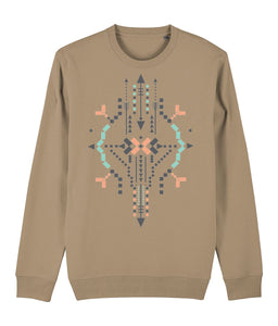 Boho Totem IV Sweatshirt Clothing IndianBelieves Camel X-Small