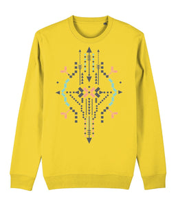 Boho Totem IV Sweatshirt Clothing IndianBelieves Golden Yellow X-Small