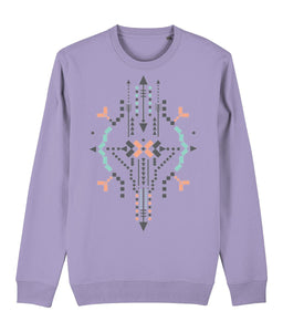 Boho Totem IV Sweatshirt Clothing IndianBelieves Lavender Dawn X-Small