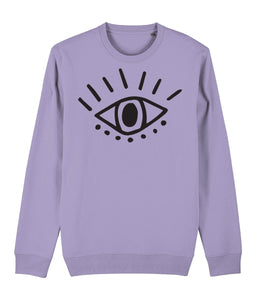 Esoteric Eye Sweatshirt Clothing IndianBelieves Lavender Dawn X-Small