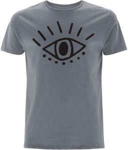 Esoteric Eye T-shirt Clothing IndianBelieves Light Charcoal X-Small