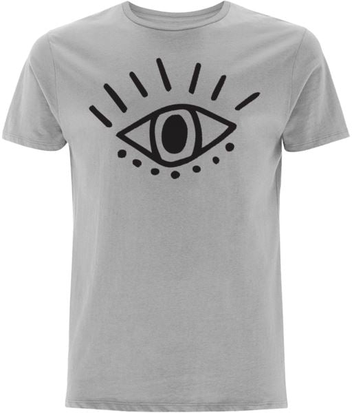 Esoteric Eye T-shirt Clothing IndianBelieves Melange Grey X-Small