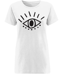 Esoteric Eye T-shirt Clothing IndianBelieves X-Small White