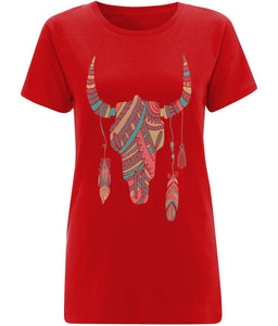Ethnic Bull Skull T-shirt - IndianBelieves