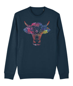 Ethnic Cow Sweatshirt - IndianBelieves